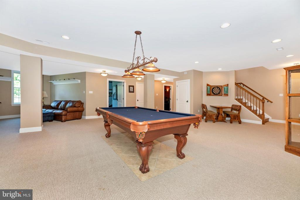 Lower level entertainment area - 12788 BARNETT DR, MOUNT AIRY