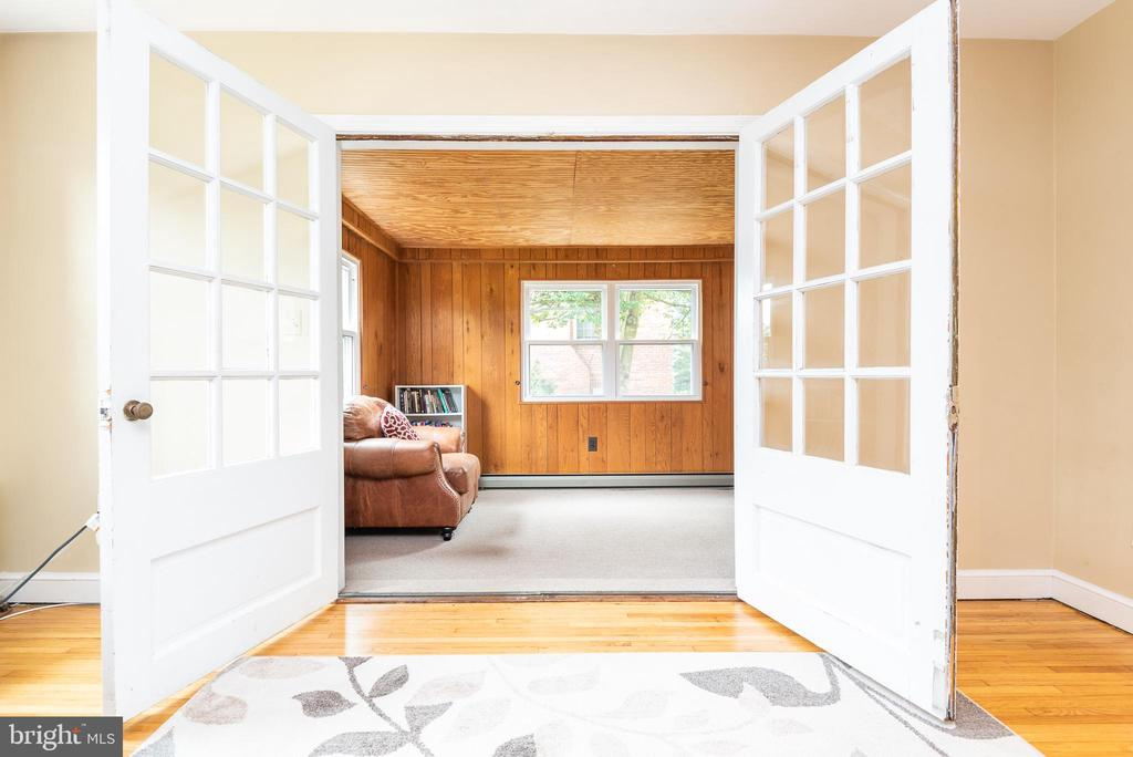 Open French Doors to Addition - 9115 FLOWER AVE, SILVER SPRING