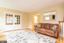 Living Room - French Doors to Addition - 9115 FLOWER AVE, SILVER SPRING