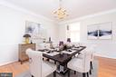 Formal dining room with virtual staging - 6033 SUMNER RD, ALEXANDRIA
