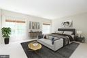 Primary bedroom with virtual staging - 6033 SUMNER RD, ALEXANDRIA