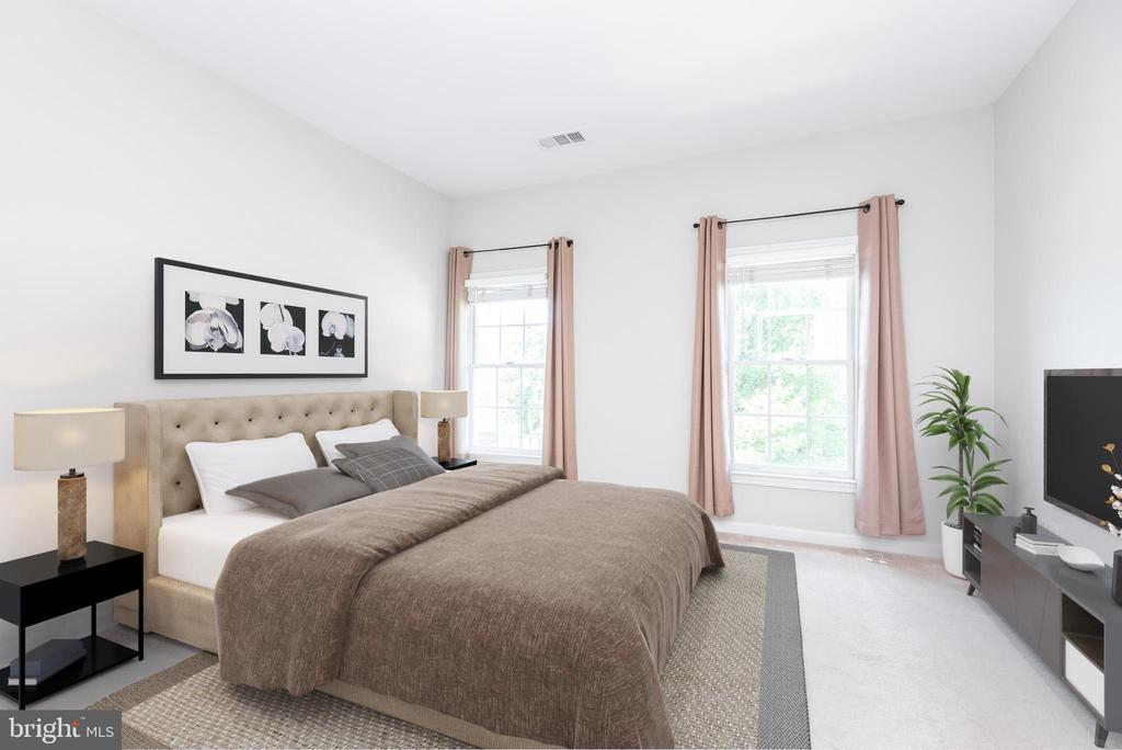 Left front bedroom with virtual staging - 6033 SUMNER RD, ALEXANDRIA