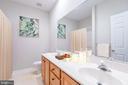 Right hallway full bath with double vanity - 6033 SUMNER RD, ALEXANDRIA
