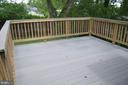 Large renovated deck looking over private backyard - 4712 EDGEWOOD RD, COLLEGE PARK