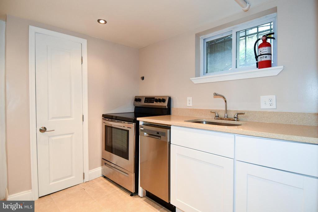 Lower Level kitchen - brand new - 5603 16TH ST NW, WASHINGTON