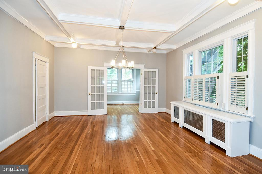 Beautiful details including a coffer ceiling - 5603 16TH ST NW, WASHINGTON