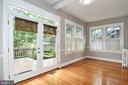 Sunroom/study/family room with access to deck - 5603 16TH ST NW, WASHINGTON