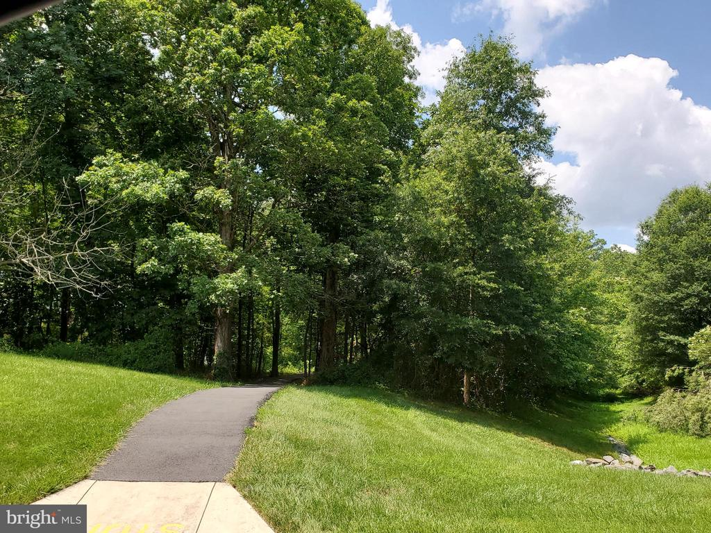 Walking path across the street from this home - 26 WESTMORELAND DR, STERLING