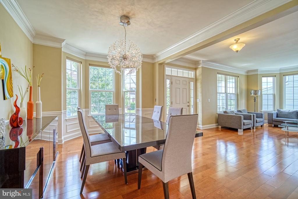 Dining Room with Front Bay Window - 42105 AUTUMN RAIN CIR, BRAMBLETON