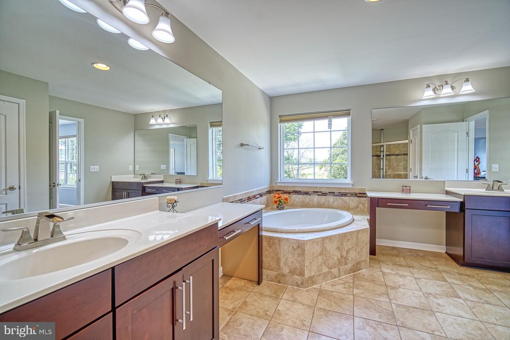Master Bath Double Vanities, Soaking Tub - 42105 AUTUMN RAIN CIR, BRAMBLETON