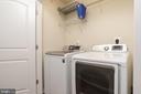 Upstairs Laundry Room with Storage and Hanging - 15405 ROSEMONT MANOR DR, HAYMARKET