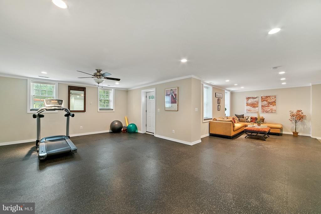 Work Out area & door to fenced back yard - 19200 ORCHARD MANOR LN, LEESBURG