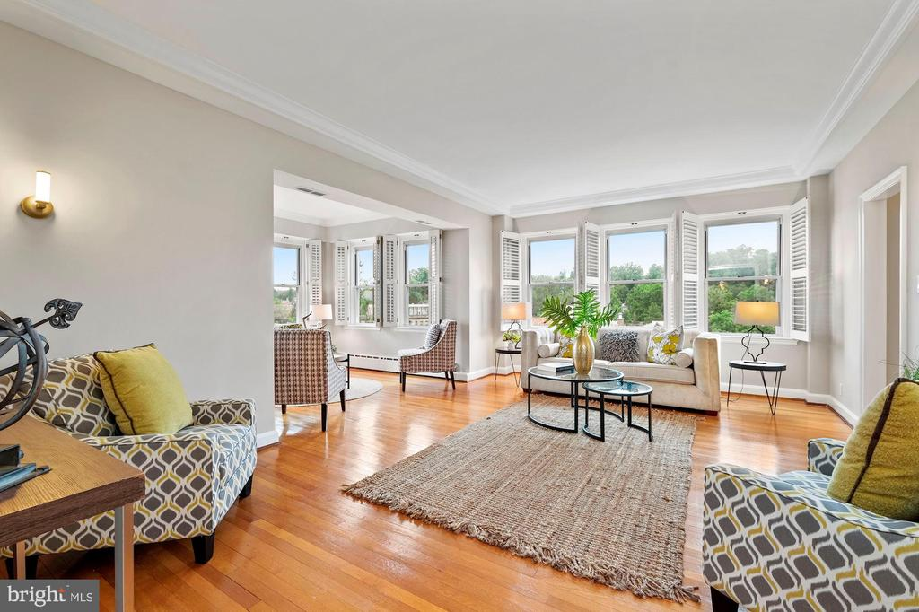 Expansive Living Room - 3601 CONNECTICUT AVE NW #601, WASHINGTON