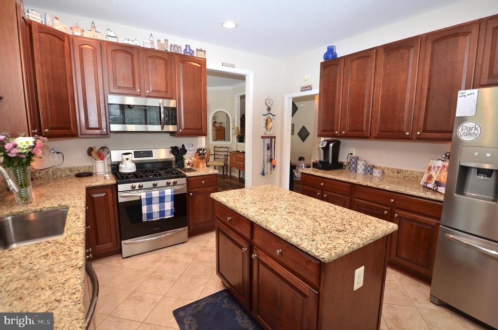 Granite counters with upgraded SS appliances - 6290 SETTLERS TRAIL PL, GAINESVILLE