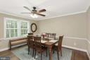 Dining Area open to Kitchen - 1958 BARTON HILL RD, RESTON