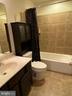Lower Level Full Bath - Tile Floor & Surround - 15607 GREAT BRIDGE LN, CULPEPER
