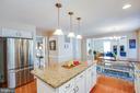 Kitchen opens to family room - 10809 STACY RUN, FREDERICKSBURG