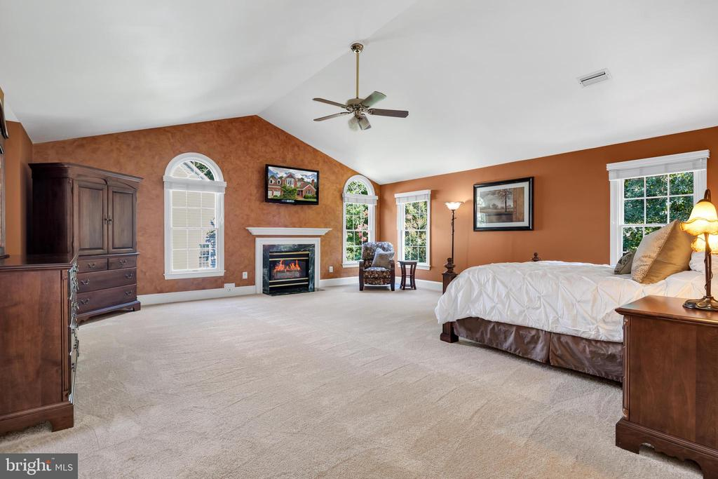 Large owners suite w/ 3 walk-in closets - 8119 HADDINGTON CT, FAIRFAX STATION