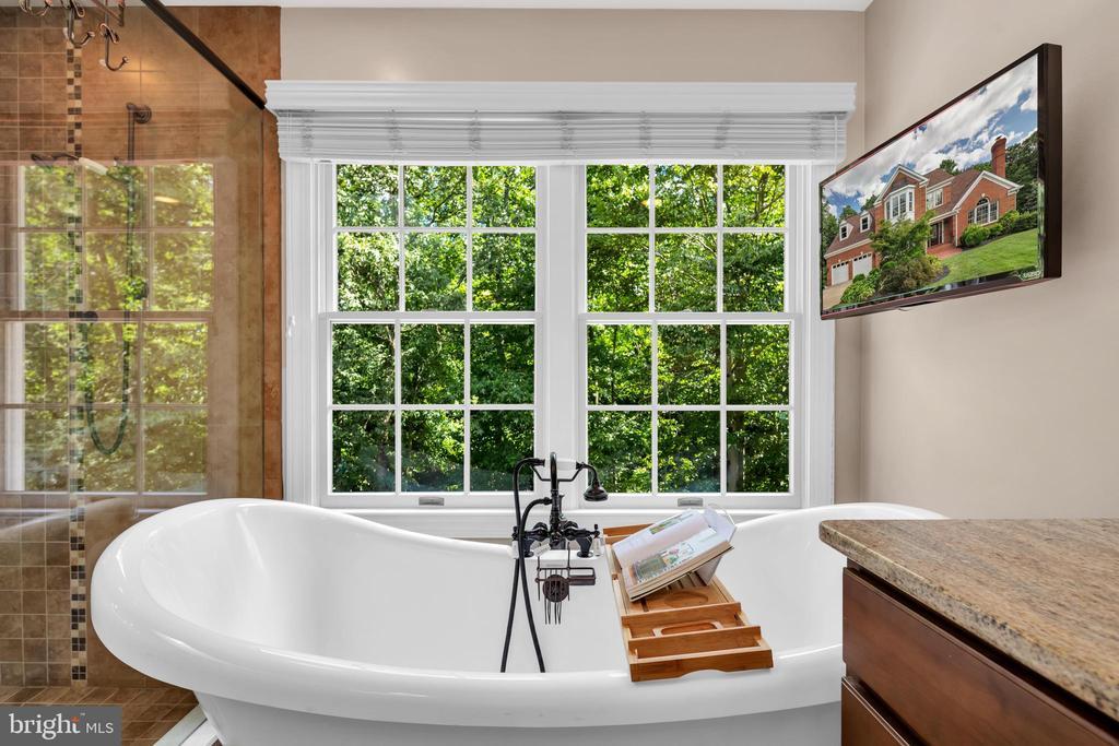 Enjoy the 2 seater claw soaking tub - 8119 HADDINGTON CT, FAIRFAX STATION