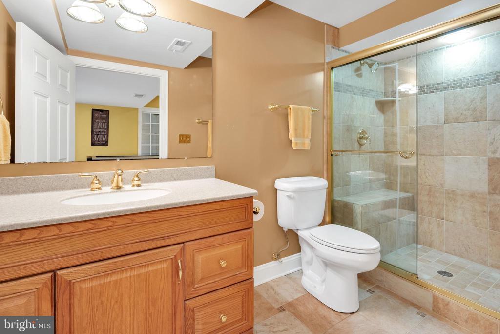 Full bath on lower level - 8119 HADDINGTON CT, FAIRFAX STATION