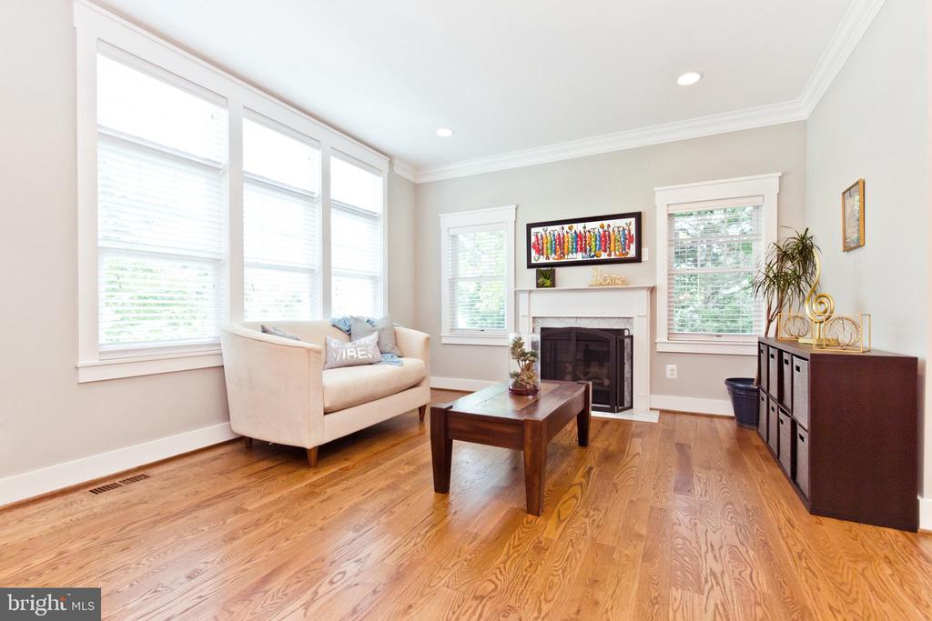 Living room with gas fireplace - 3000 12TH ST S, ARLINGTON