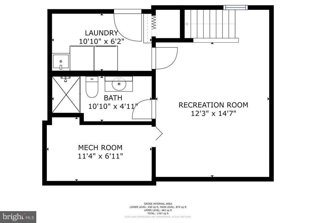 3rd bath, rec room. good storage - 3616 ARLINGTON BLVD, ARLINGTON