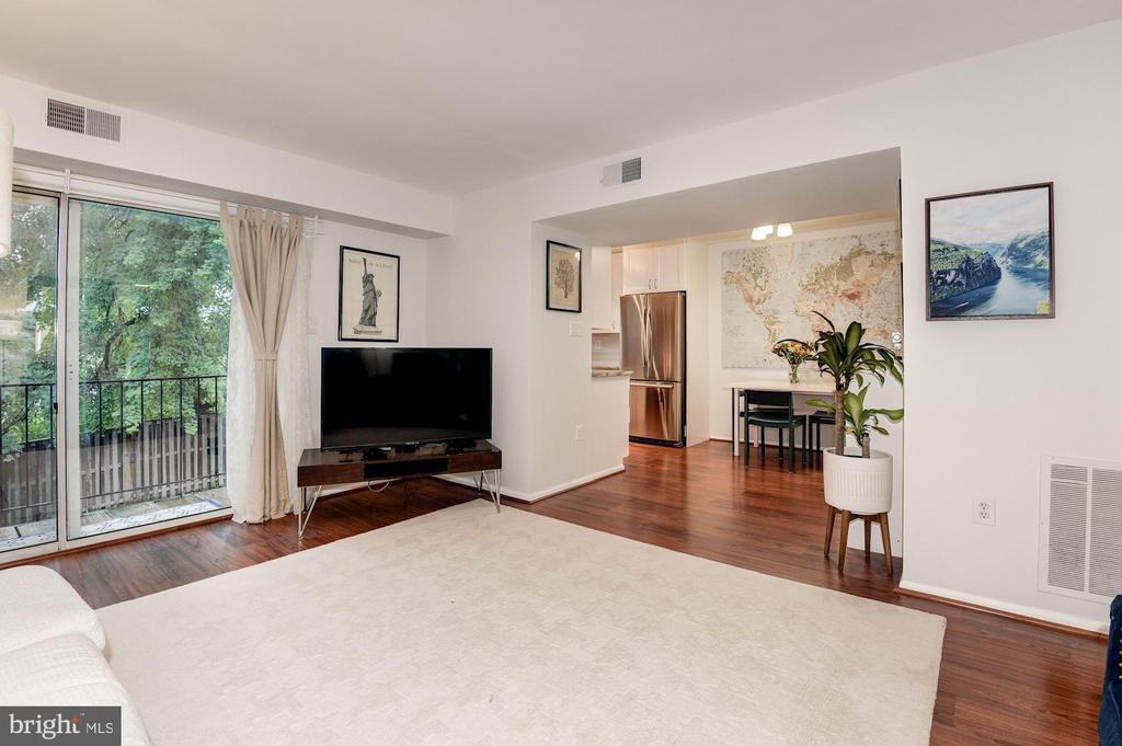 Living Room  - Opens Beautifully to Dining Room! - 7758 NEW PROVIDENCE DR #10, FALLS CHURCH