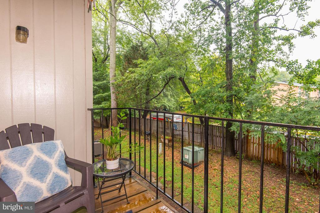 Private Balcony Off Living Room - Tree Views! - 7758 NEW PROVIDENCE DR #10, FALLS CHURCH