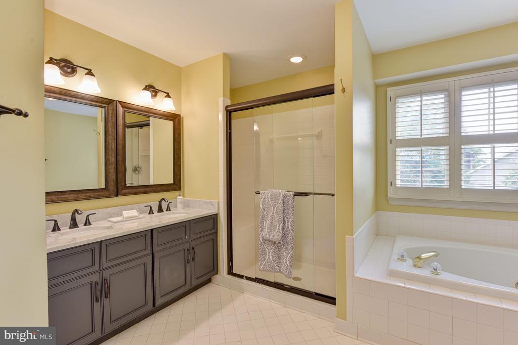 Master bathroom with dual vanity - 1000 DARTMOUTH RD, ALEXANDRIA