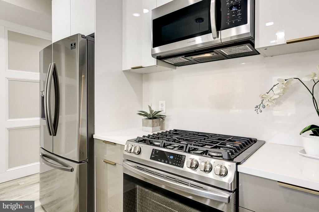 Stainless steel appliances and gas cooking - 1206 LONGFELLOW ST NW #5, WASHINGTON