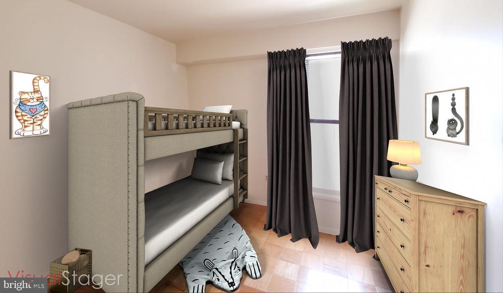 2nd bedroom staged - 307 SHENANDOAH ST SE, LEESBURG