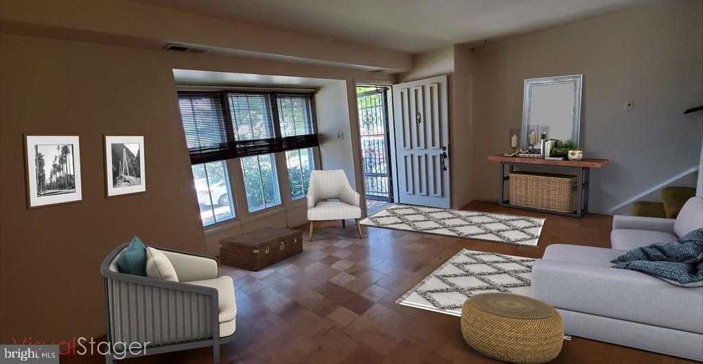 Living room staged - 307 SHENANDOAH ST SE, LEESBURG