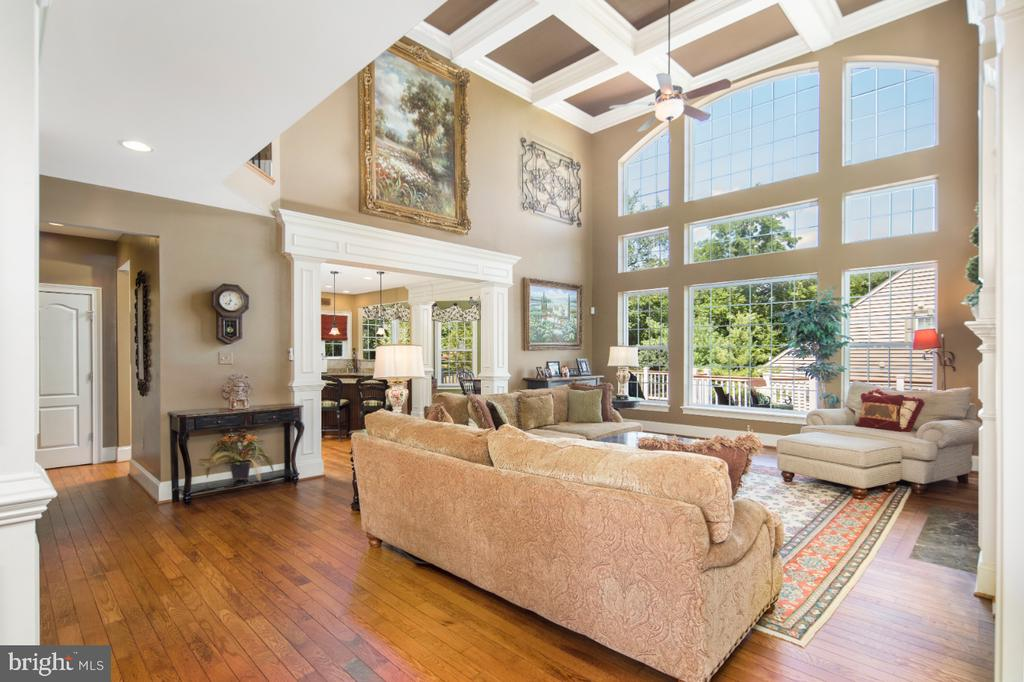 two story family room - 2270 W GREENLEAF DR, FREDERICK