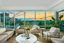 Gorgeous sunset views from the Living Area - 1881 N NASH ST #1210, ARLINGTON