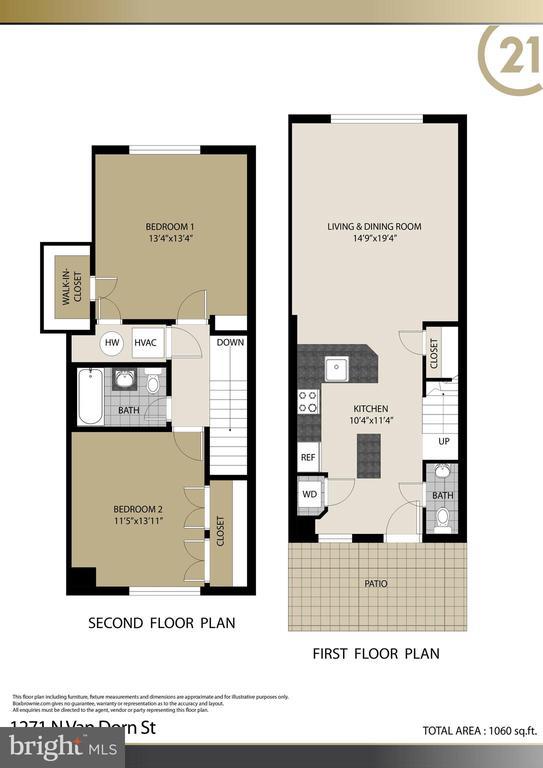 Hamilton Floor Plan - 1271 N VAN DORN ST, ALEXANDRIA