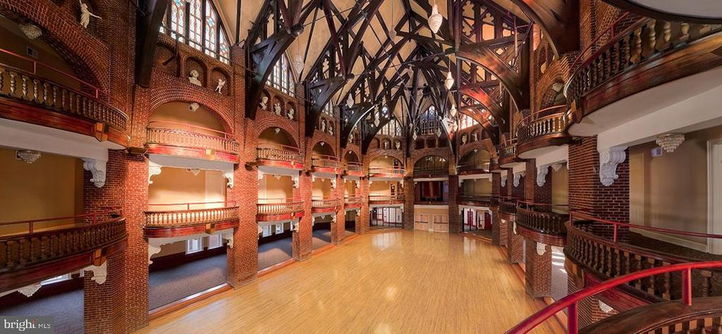 Beautiful ornate ballroom built in the 1920s - 9610 DEWITT DR #PH412, SILVER SPRING