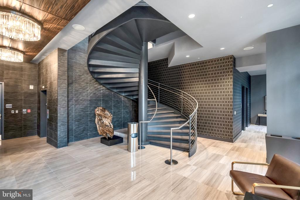 Staircase from Gym up to residents lounge - 45 SUTTON SQ SW #1104, WASHINGTON