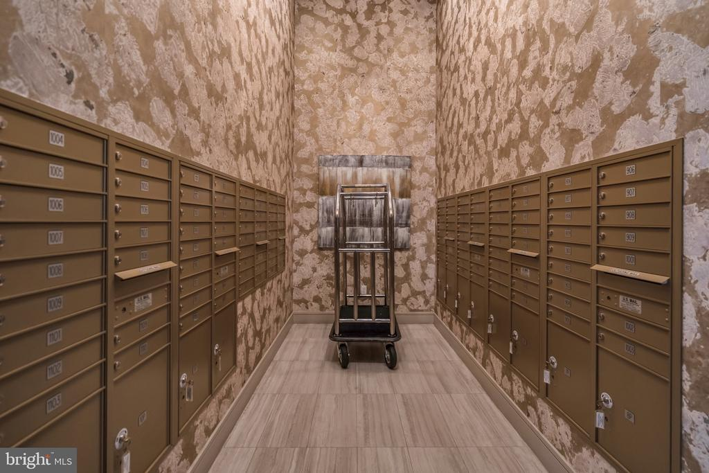 secure and stylish mail room - 45 SUTTON SQ SW #1104, WASHINGTON