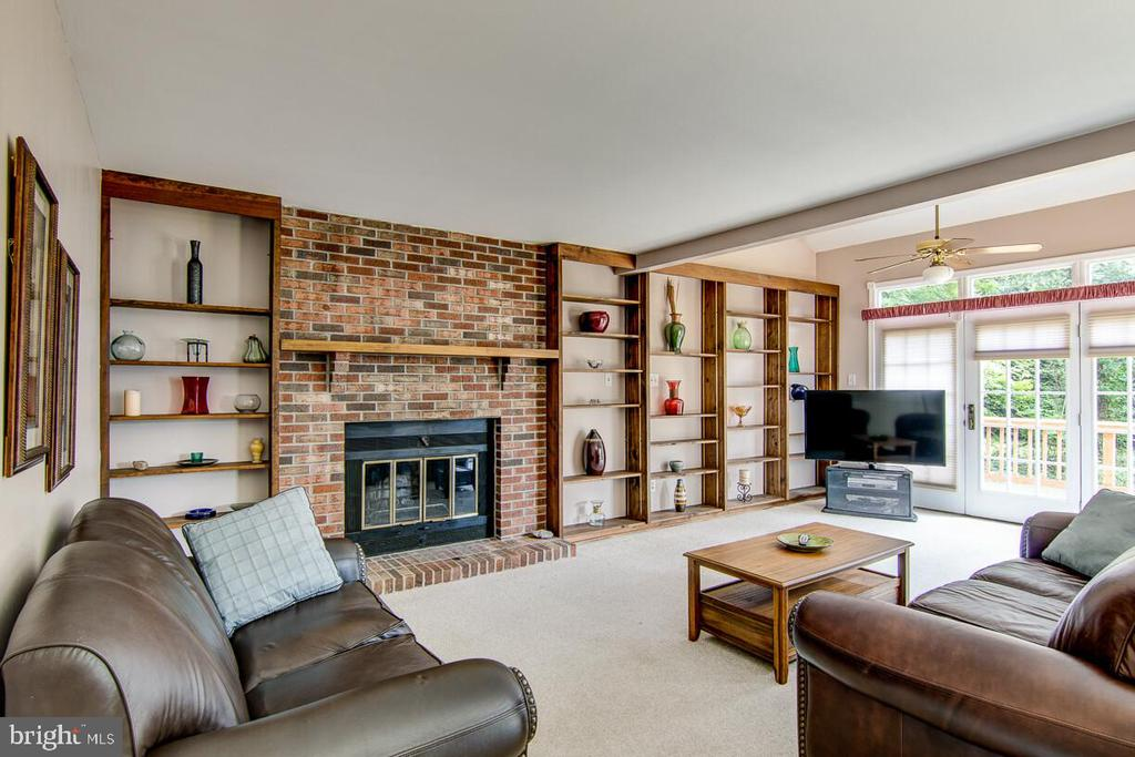 Huge Family Room With Fireplace and Built-In - 10303 WAVERLY WOODS DR, ELLICOTT CITY