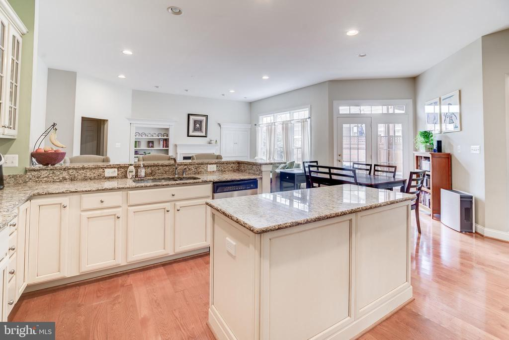 Center island and lots of cabinet space - 43600 CANAL FORD TER, LEESBURG