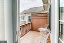 Balcony off sitting area - 43600 CANAL FORD TER, LEESBURG
