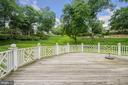 Large deck off the lower level Family Room - 2747 N NELSON ST, ARLINGTON