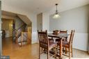 Natural flow from dining to living room - 8873 OLD SCAGGSVILLE RD, LAUREL