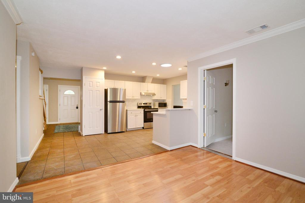 Kitchen and family room - 246 W MEADOWLAND LN, STERLING