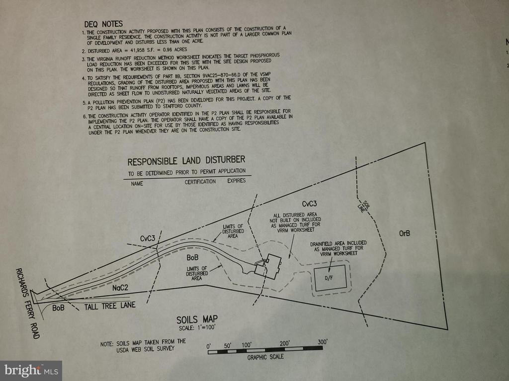 5 acre lot plot for proposed dwelling - 19 TALL TREE LN, FREDERICKSBURG
