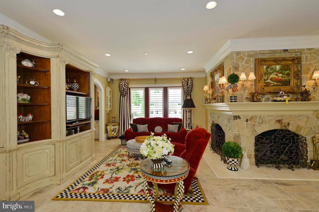 Wonderful family room with fireplace - 40483 GRENATA PRESERVE PL, LEESBURG