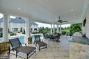 Pool house covered seating - 40483 GRENATA PRESERVE PL, LEESBURG