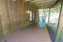 Lower rear deck, accessed from the screened porch - 5520 BOOTJACK DR, FREDERICK
