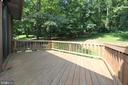 Private deck, accessed from bedroom 3 - 5520 BOOTJACK DR, FREDERICK
