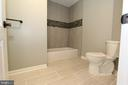 Remodeled upstairs hall bath - 5520 BOOTJACK DR, FREDERICK
